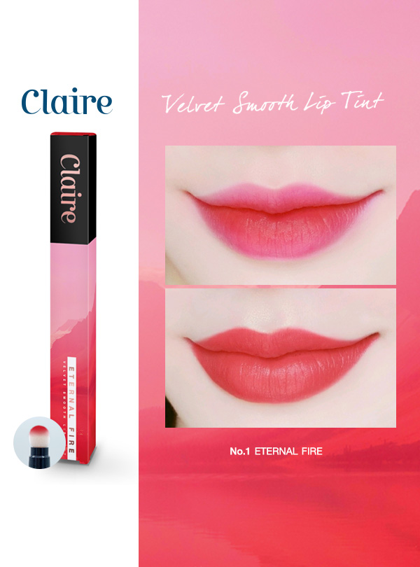 Claire Velvet Smooth Lip Tint  No.1 Eternal Fire