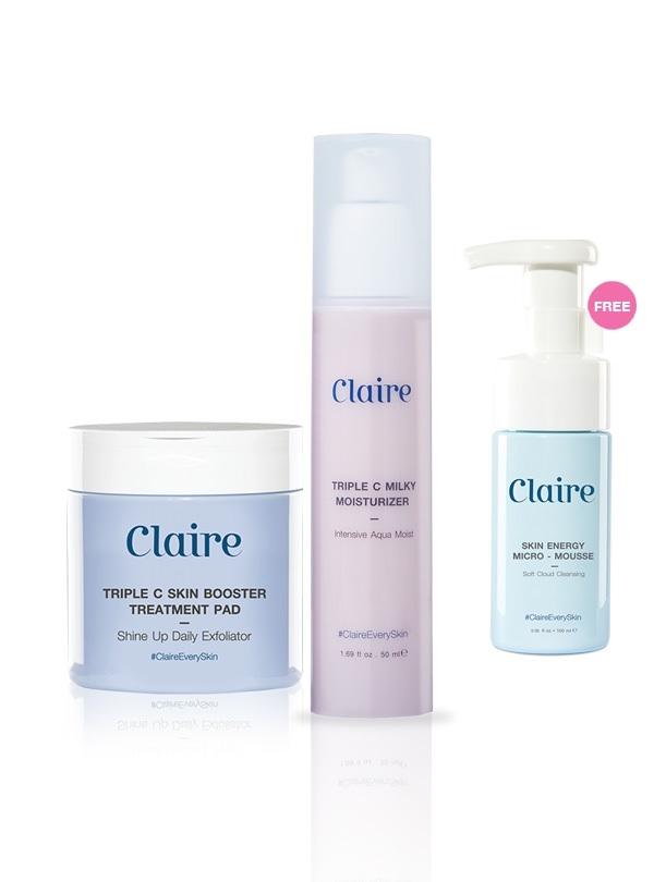 Set Claire Pad + Claire Milky Moisture Free Claire Micro-Mousse