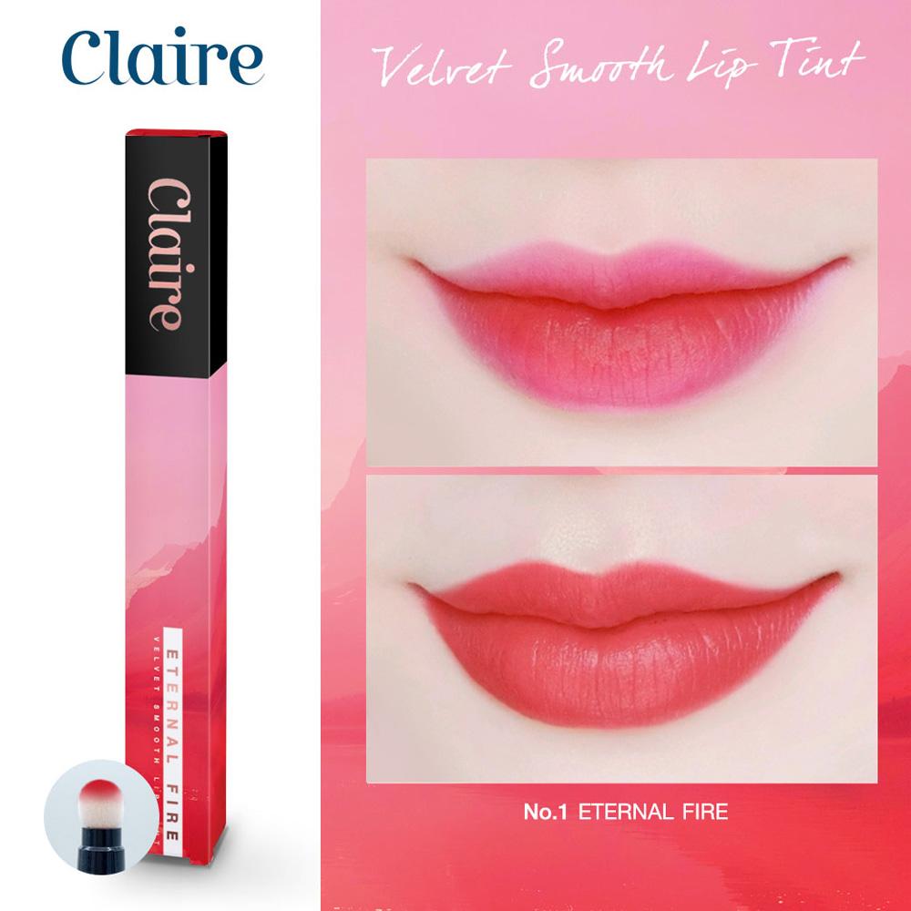 Claire Velvet Smooth Lip Tint No.1 Eternal Fire
