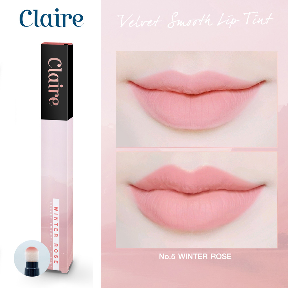 Claire Velvet Smooth Lip Tint No.5 Winter Rose