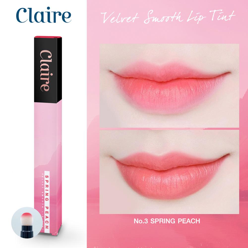 Claire Velvet Smooth Lip Tint No.3 Spring Peach
